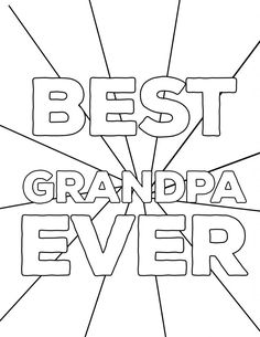 Happy Birthday Grandpa coloring page for kids, holiday