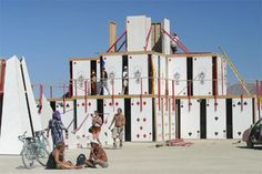 Leave it to the imaginative minds of Burning Man devotees to come up with this idea: a literal house of cards. Created by Lewis Zaumeyer, this building – otherwise known as 'Temple of Chance' – was burned, naturally, at the end of the 2003 festival.