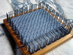 how to weave herringbone pattern rigid heddle - Google Search