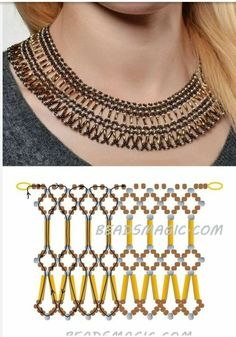 Beaded jewelry 2017 - Best Seed Bead Jewelry 2017 schema for Pearls& Roses ~ Seed Bead Tutorials. Bead Jewellery, Seed Bead Jewelry, Jewelry Making Beads, Diy Necklace Patterns, Beaded Jewelry Patterns, Beading Patterns, Necklace Ideas, Silver Bracelets, Beaded Bracelets