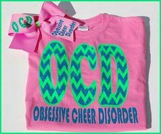 Items similar to Adult Sizes Obsessive Cheer Disorder shirt and matching hairbow.Cheerleading on Etsy Cheer Camp, Cheer Coaches, Cheer Stunts, Cheer Dance, Cheer Gifts, Cheer Bows, Cheerleading Shirts, Cheerleading Photos, Cheer Spirit
