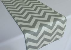 Gray and White Chevron table runner  SELECT A SIZE by LaruesLine, $7.00