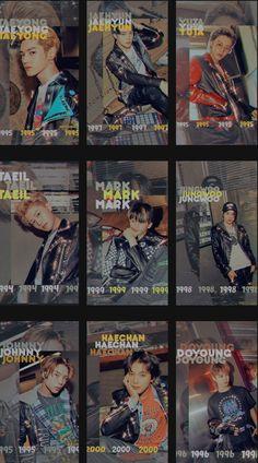 Night Aesthetic, Retro Aesthetic, Taeyong, Jaehyun, Nct 127, Winwin, Kpop Backgrounds, Retro Graphic Design, Young K