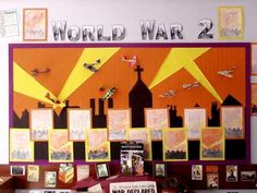 world war 2 displays Classroom Displays Ks2, Year 6 Classroom, Classroom Display Boards, Display Boards For School, Teaching Displays, Ks2 Classroom, Class Displays, School Displays, History Classroom