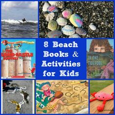 {8  Beach Books & Activities for Kids} Connect kids books with fun crafts & activities for a day on the sand!