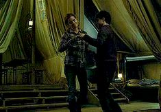my gif love harry potter Daniel Radcliffe Hermione Granger Emma Watson dance Harry Potter and the Deathly Hallows Hermione and Harry