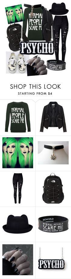 A fashion look from February 2016 featuring green long sleeve shirt, plus size jackets and destroyed jeans. Browse and shop related looks. Green Long Sleeve Shirt, Long Sleeve Shirts, Destroyed Jeans, The North Face, Fashion Looks, Vans, Plus Size, Shoe Bag, Clothes For Women