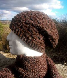 2254f3937dc Knitting Pattern for Mens Slouchy Beanie or Skullcap.This knitting pattern  is inspired by Farmers