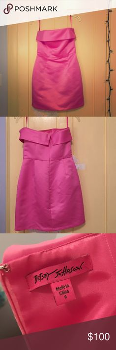 Strapless Betsy Johnson Dress Size six dress, been worn once never out of the house. It's in excellent condition and Is form fitting but not too tight. Betsey Johnson Dresses Strapless