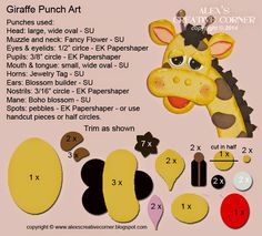 Alex's Creative Corner: Giraffe Punch Art
