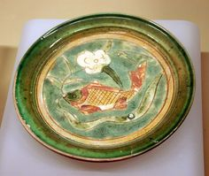 Chinese Tricolored Bowl and Plate - Jin Dynasty - 1115 -1234