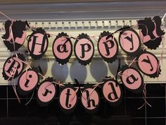 New....Barbie Silhouette Birthday Banner by BashEventPlanning on Etsy…