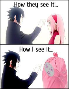 RIGHT! #antiSakura Sakura Haruno, Sasuke Uchiha, SasuSaku