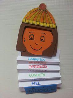 Todos los alumnos deberán realizar un dibujo con su cara y poner debajo características que lo describan para que se conozcan mejor los compañeros.