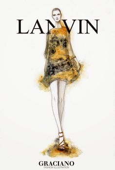 #LANVIN SPRING 2015 #PFW by #GRACIANOfashionillustration