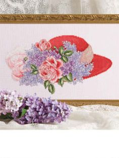 chapeau rouge cross stitch download pattern