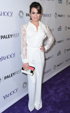 Lea Michele looks lovely in white at Glee's Paleyfest