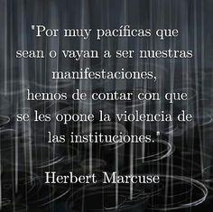 Violencia de las instituciones. Herbert Marcuse.