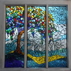 Mosaic Stained Glass - Summers Colors Glass Art