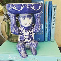 """Monkey #3 8x5.5"""". Blue and white porcelain monkey. $60 #shopthealist #porcelainmonkey #blueandwhitemonkey #chinoiserie"""