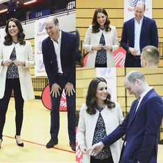 William and Kate began the day at a SportsAid event at the Copper Box in the Olympic Park. The royals watched a wheelchair basketball session and met the players, some of whom hope to compete in the 2022 Commonwealth Games in Birmingham in which the sport will feature for the first time. Finally the Duke and Duchess participated in a Commonwealth Quiz in which athletes, coaches and supporters were questioned on their knowledge of the Commonwealth Games. via ✨ @padgram…