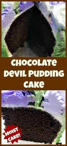 Chocolate Devil Pudd Chocolate Devil Pudding Cake. A super easy...  Chocolate Devil Pudd Chocolate Devil Pudding Cake. A super easy and soft moist cake perfect for chocolate lovers . Also recipe for a delicious whipped cream frosting too! Great for Mothers Day or Easter! Recipe : http://ift.tt/1hGiZgA And @ItsNutella  http://ift.tt/2v8iUYW