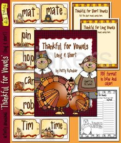 Printable Thanksgiving activity by Patty Rutenbar. teaching vowels, Thanksgiving ideas, Thanksgiving classroom -DJ Inkers