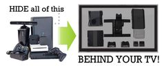 HIDEit Mounts  -  Hide TV components behind a wall-mount TV