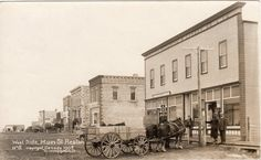 Historical photos photographs of Reston Town Hall, Historical Photos, Rodeo, Photographs, Old Things, Street View, Canada, History, Country