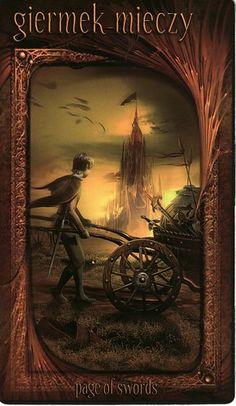 Page of Swords ~ Maroon Tarot
