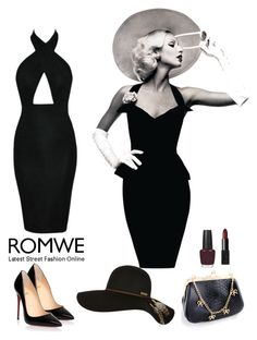 """""""Romwe 1"""" by amra-f ❤ liked on Polyvore featuring Billabong, Christian Louboutin, NARS Cosmetics and OPI"""