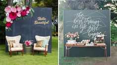 How adorable are these? Chalkboard signs can be an easy DIY project that can be used in all areas of your reception.