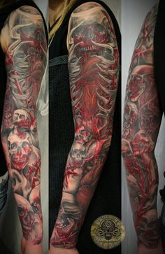 14 full sleeve tattoo
