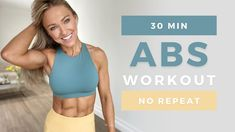30 Min DEFINED ABS WORKOUT at Home | No Equipment | No Repeat