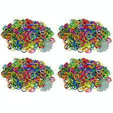 Rubber Band Refill COLOR=NEON 2400 bands 100 S-Clips by BLUEDOT for Rainbow Loom