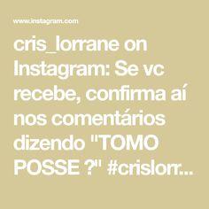 """cris_lorrane on Instagram: Se vc recebe, confirma aí nos comentários dizendo """"TOMO POSSE 🙌"""" #crislorrane #Deus #Jesus #Umminuto #louvor #Fé #deusébomotempotodo…"""