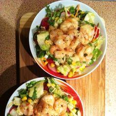 Scampi Salat für den Sommer Rezept  #salat #scampi #kochen #rezepte #kochrezepte