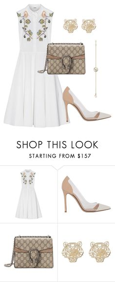 Untitled #353 by marwachic on Polyvore featuring moda, ADAM, Gianvito Rossi, Gucci, Cartier and Kenzo