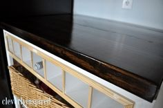 $10 dollar wood countertop. Love this idea!!  would have to really think about where to put it though.