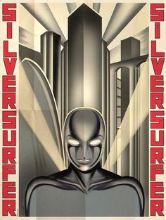 Art Deco Superheroes / Retronaut