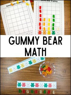 These gummy bear math printables will help your Pre-K and Kindergarten kids practice sorting, counting, and patterns. Its a quick-prep activity (as long as you have gummy bears on hand). Just print the pages, add gummy Bear Activities Preschool, Bear Theme Preschool, Graphing Activities, Pre K Activities, Free Preschool, Preschool Themes, Preschool Lessons, Preschool Activities, Number Activities