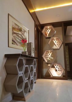 Modern corridor, hallway & stairs by umesh prajapati designs modern in 2020 Room Partition Wall, Living Room Partition Design, Room Partition Designs, Room Door Design, Hallway Designs, Foyer Design, Deco Design, Wood Partition, Niche Design