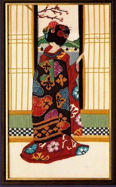 japanese lady embroidery kit