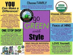 Dedicated to YOU!!! We are looking for POSITIVE people looking to make a difference! It's our mission to bring the safest, most effective, USDA certified organic, toxic-free products to market while inspiring EVERYONE to make the world a better place. Join POOFY ORGANICS. https://mommasorganics.poofyorganics.com/