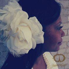 Ivory Bridal Hair Accessories Wedding Head Piece by ParisienneLuxe, $55.00