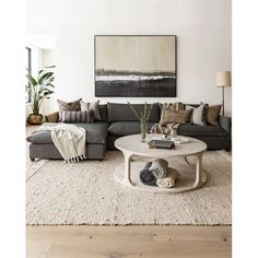 New Living Room, Living Room Interior, Home And Living, Cozy Living, Modern Small Living Room, Neutral Living Rooms, Living Room With Sectional, Neutral Living Room Furniture, Neutral Couch