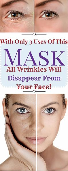 WITH ONLY 3 USES OF THIS MASK ALL WRINKLES WILL DISAPPEAR FROM YOUR FACE!