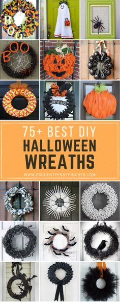 Try one of these spooktacular DIY halloween wreaths to scare your trick or treaters this Halloween! These creative wreath ideas include bats, spiders, pumpkins, skeletons and much more! Supplies You Can Get at Dollar Best DIY Halloween Wreath Spooky Halloween, Halloween Camping, Outdoor Halloween, Holidays Halloween, Halloween Crafts, Holiday Crafts, Halloween Party Supplies, Diy Halloween Decorations, Diy Halloween Wreaths
