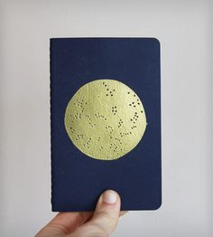 Gold Cosmos Pocket Notebook