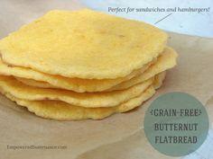 Grain Free Butternut (or Sweet Potato) Flatbread